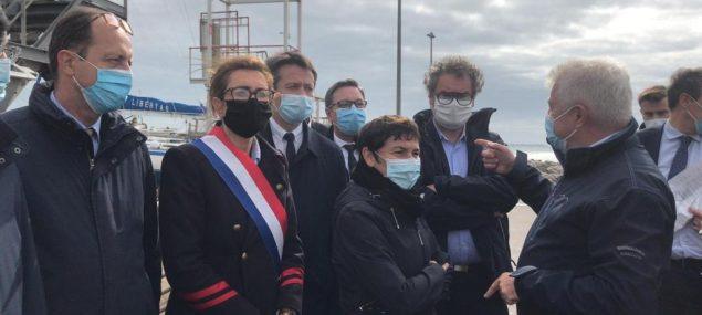 Visite d'Annick Girardin, ministre de la mer